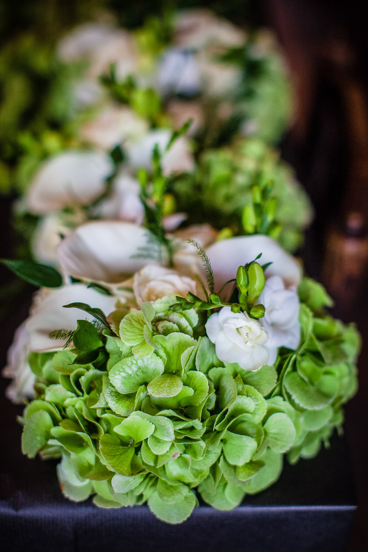 Beautiful cream and green wedding bouquet - Shropshire based Wedding Photographer Charlotte Giddings