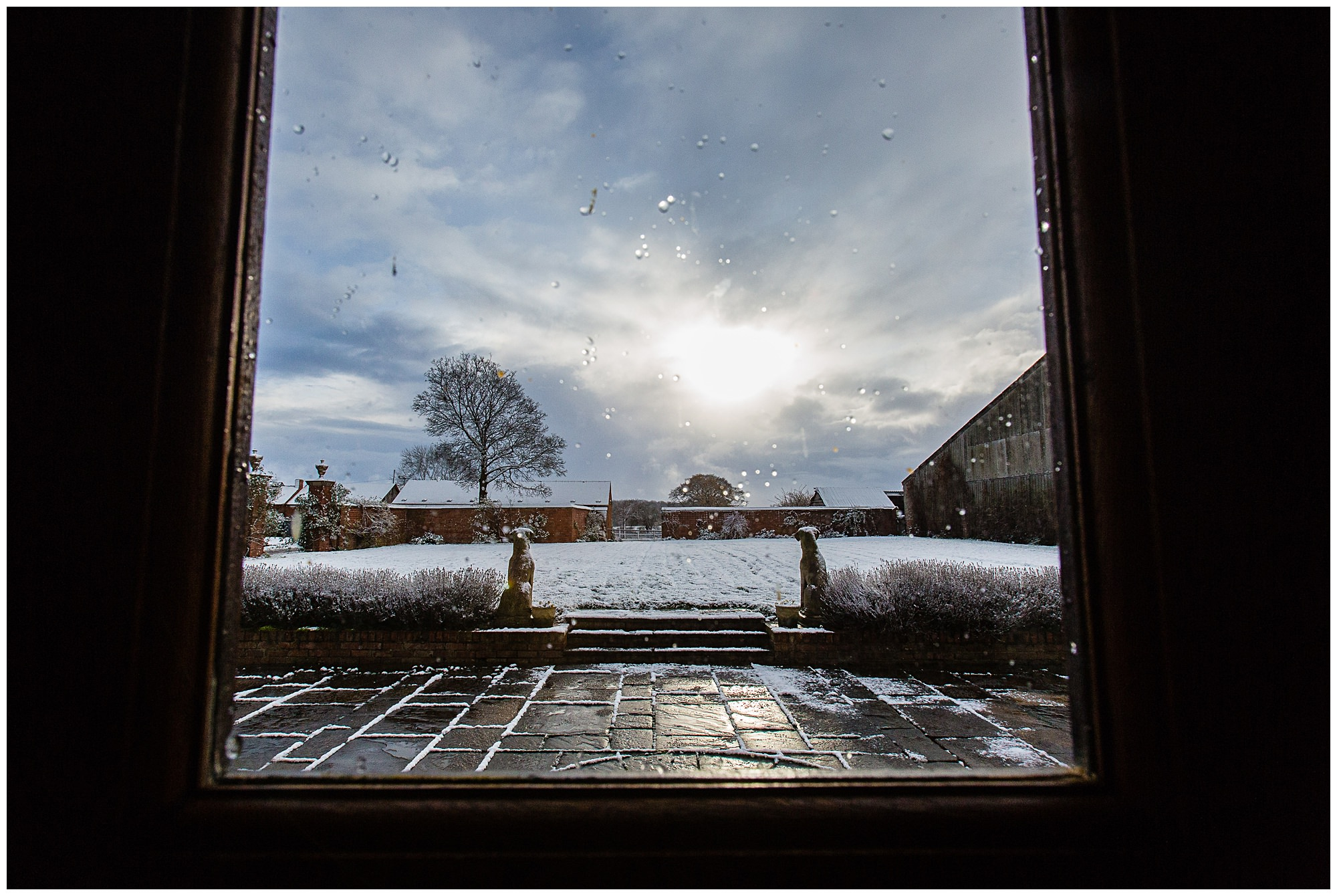 golden warm sunshine and snowy shropshire venue