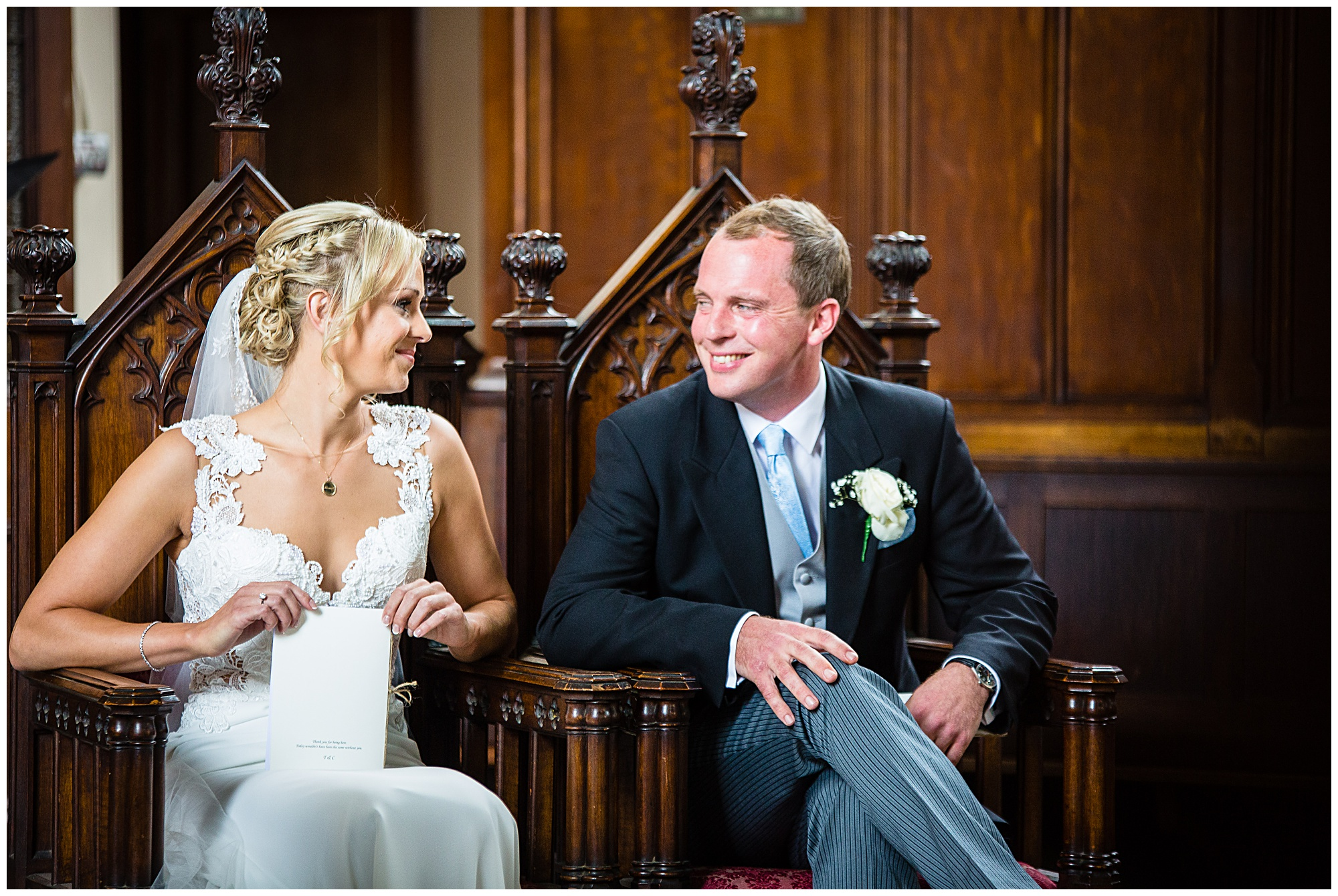 bride and groom looking so happy and smug! shropshire wedding photographer