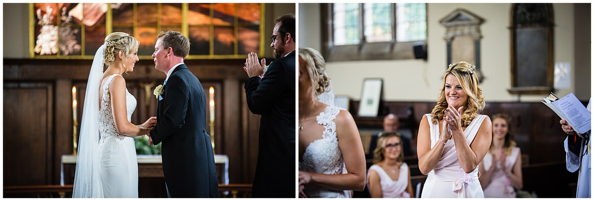 friends clapping for their friends - charlotte giddings photography