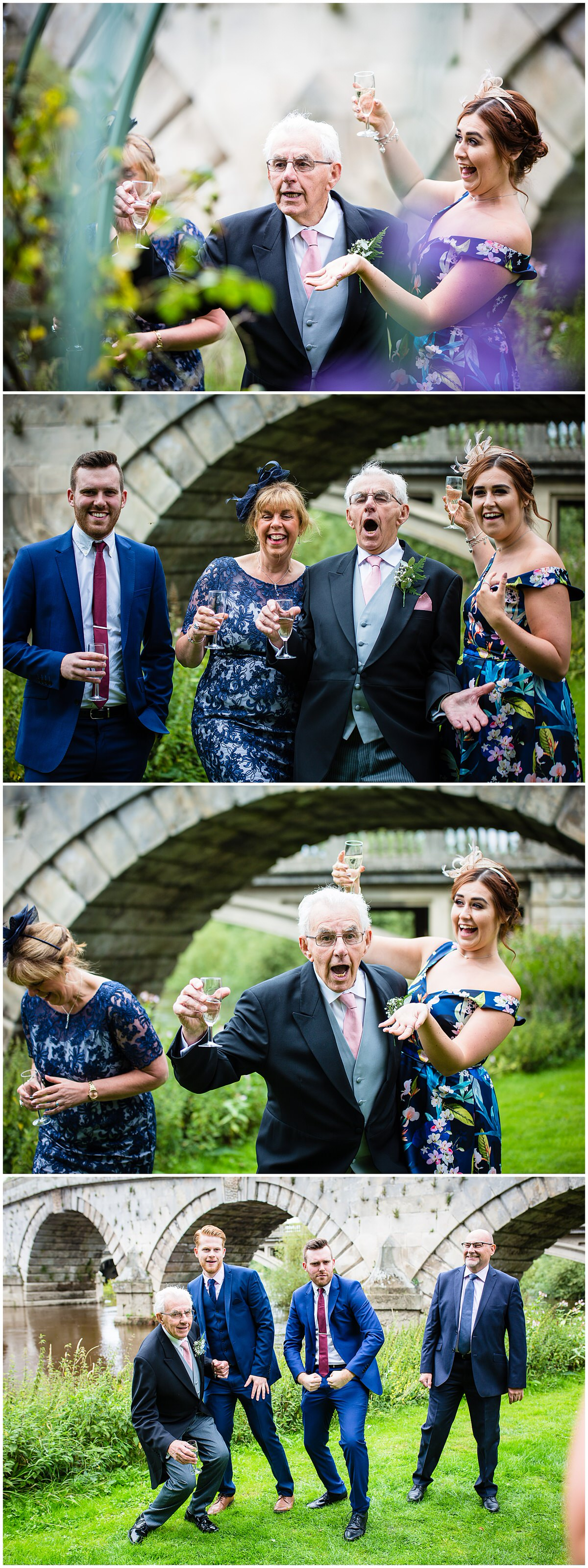 crazy grandad making guests laughing at wedding - charlotte giddings photography