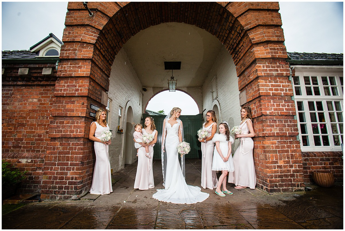 tess and the bridesmaids by mytton and mermaid wedding photographer