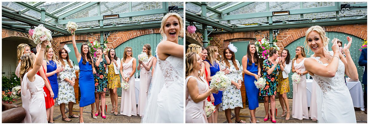 bride looking happy someone caught her and funny brides reaction