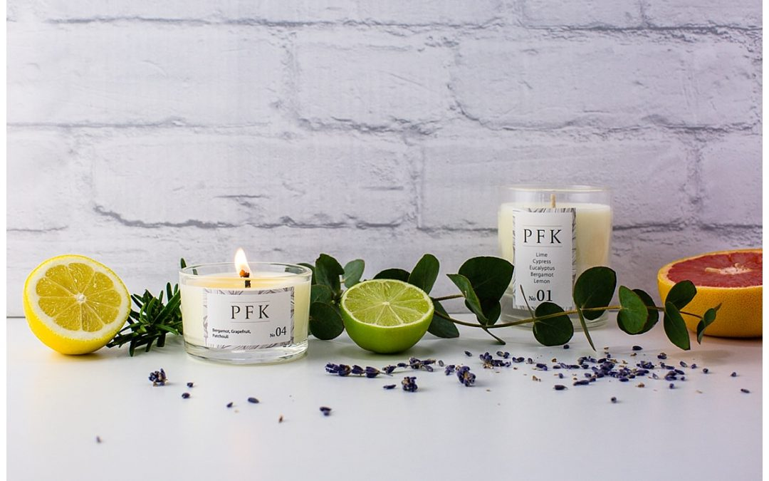 Website Progress for 100% Pure Essential Oil Homemade Candles By PFK