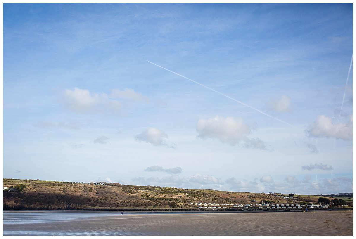 landscape shot of poppit sands, family holiday in south wales
