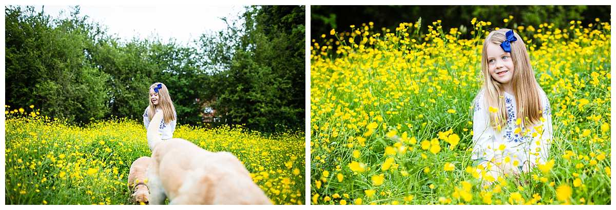 little looking adorable amongst lots of buttercups in whitchurch nature reserve