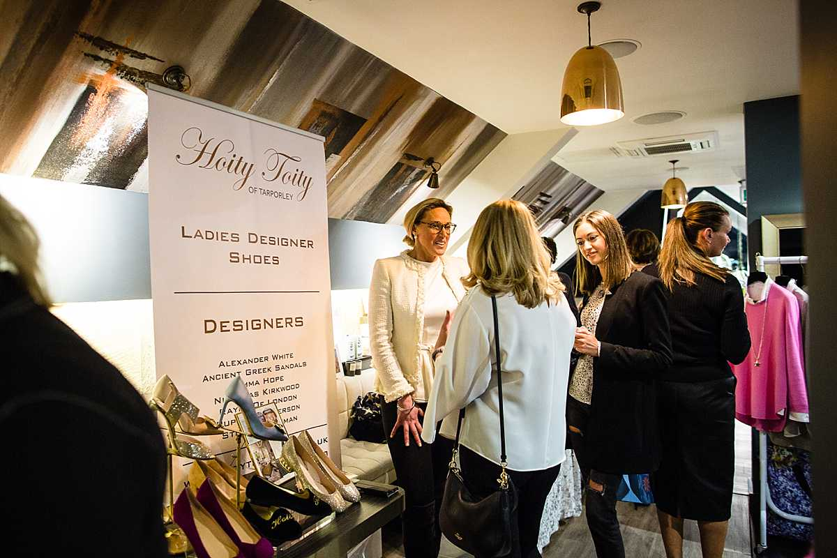 hoity toity of tarporley business owener talking with ladies at the Chester BIRDS event
