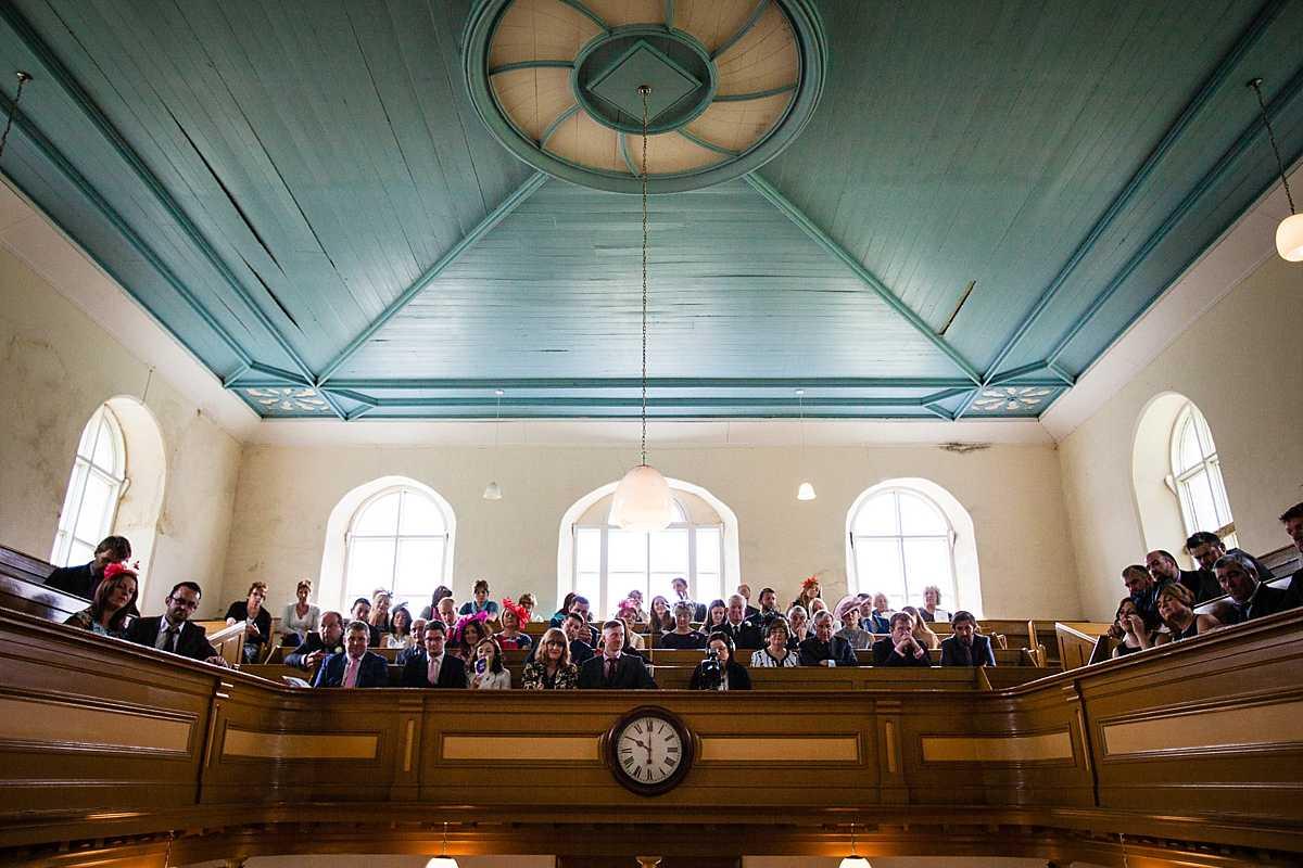 aberhosan chapel congregation for wedding in june