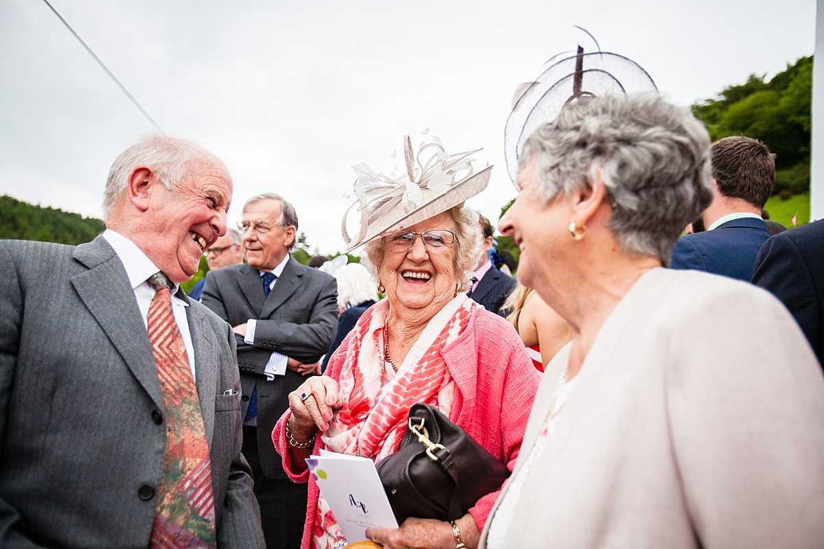 older family members giggling at something very ammusing
