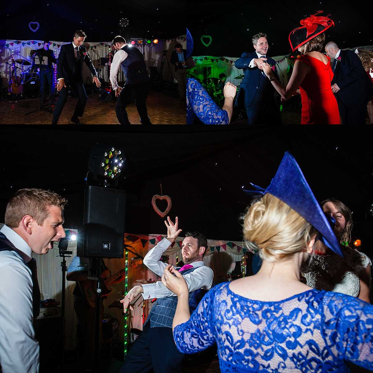 crazy dancing from the groom and his best man enjoying themselves