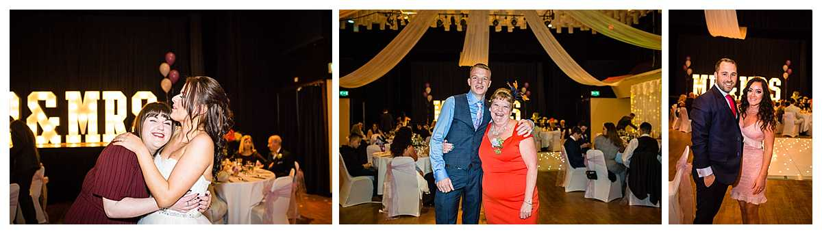 formals of guests at the whitchurch shropshire wedding