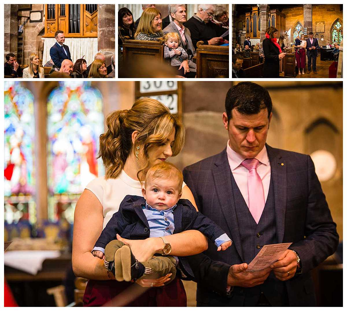godparents saying the requirements to support baby louie - christening photographer