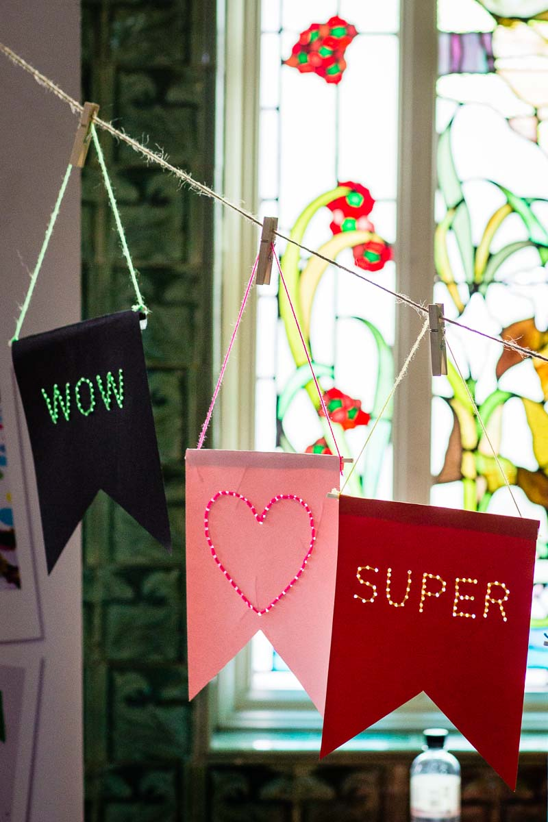 wow, super and love heart, examples of some of the crafts that have taken place at victoria baths