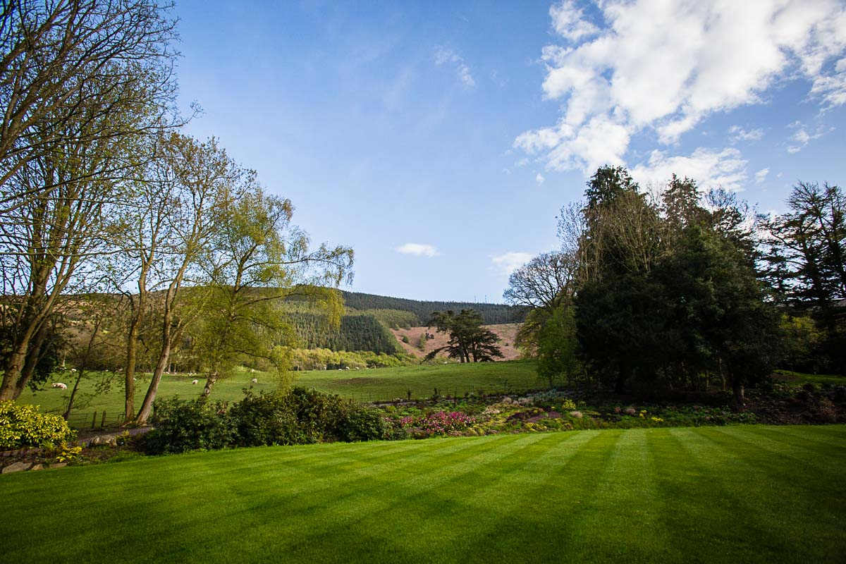 wedding venue tyn dwr incredibly well maintained gardens and borders on a summers evening