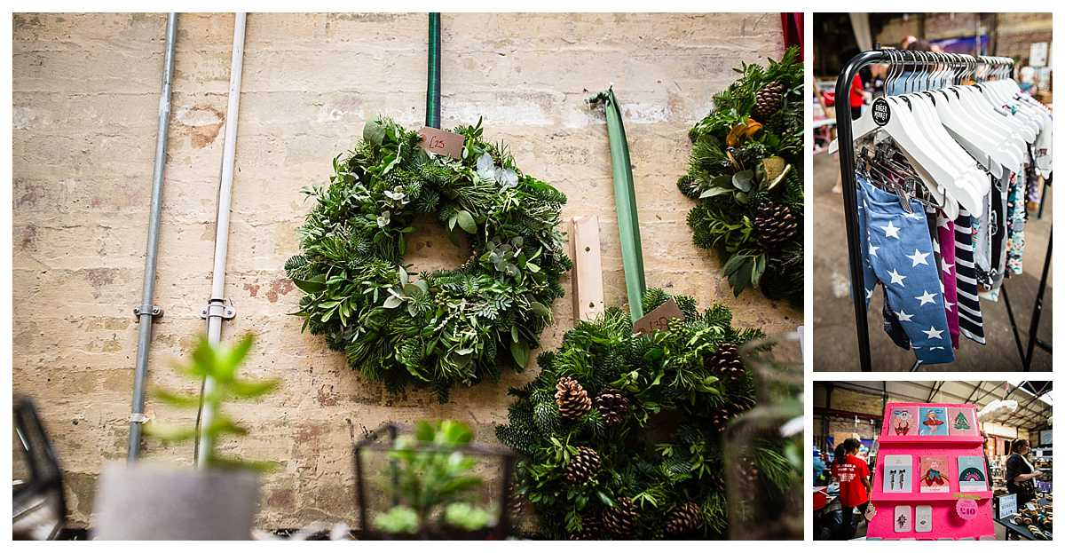 christmas wreath crafts and boutique clothing stalls at parentfolk weekender event