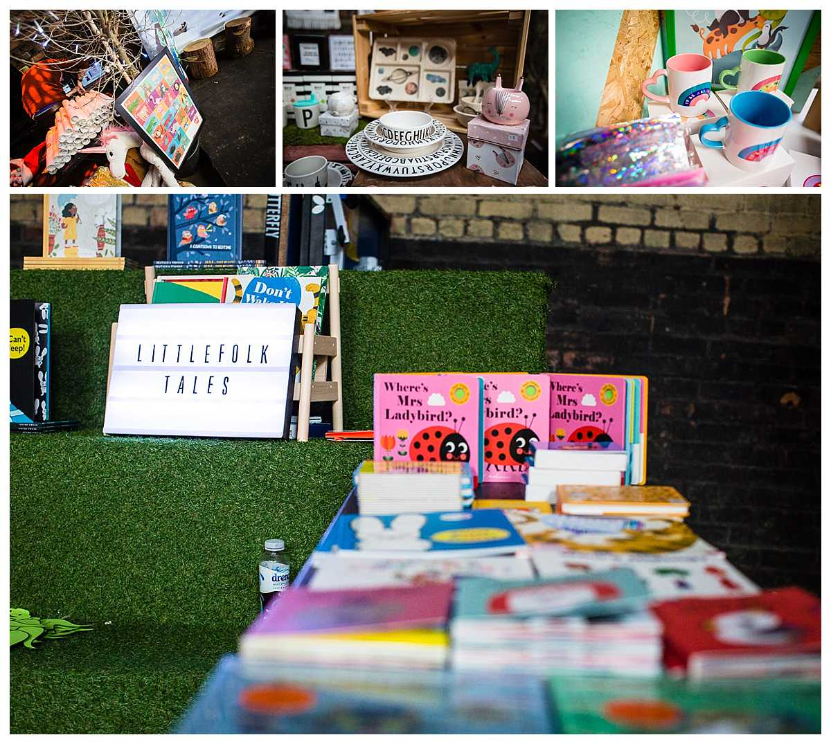 littlefolk tales book set up at parentfolk weekender event