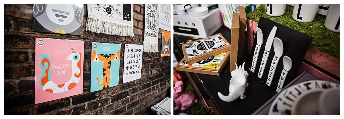 wall art displayed at parentfolk weekender event in liverpool