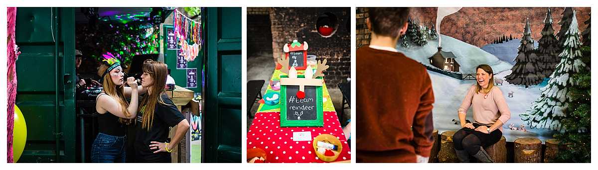 christmas themed activities and crafts set up at camp and furnace,liverpool