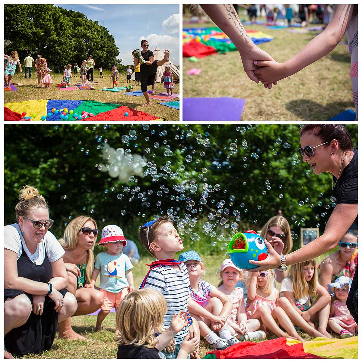 yoga for the kids at the parentfolk outdoors event - wirral event photographer