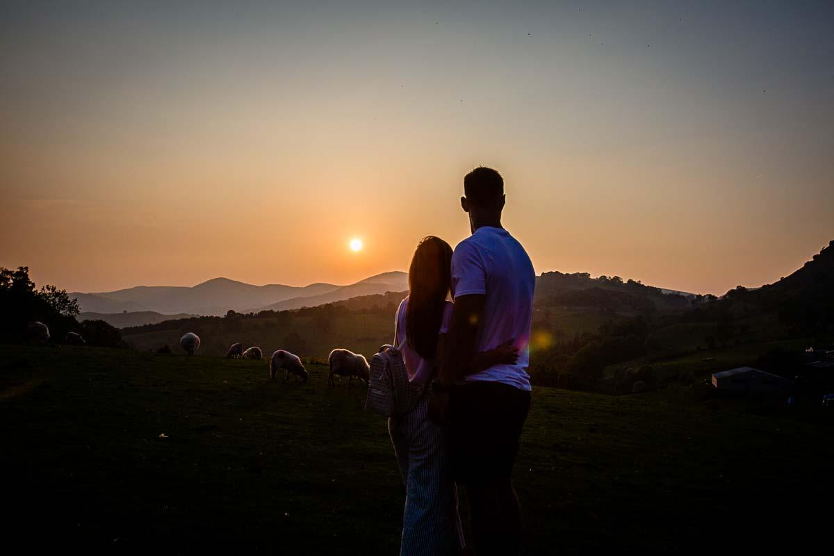 pre-wedding shoot Llangollen, castell dinas bran summer 2018in beautiful twilight