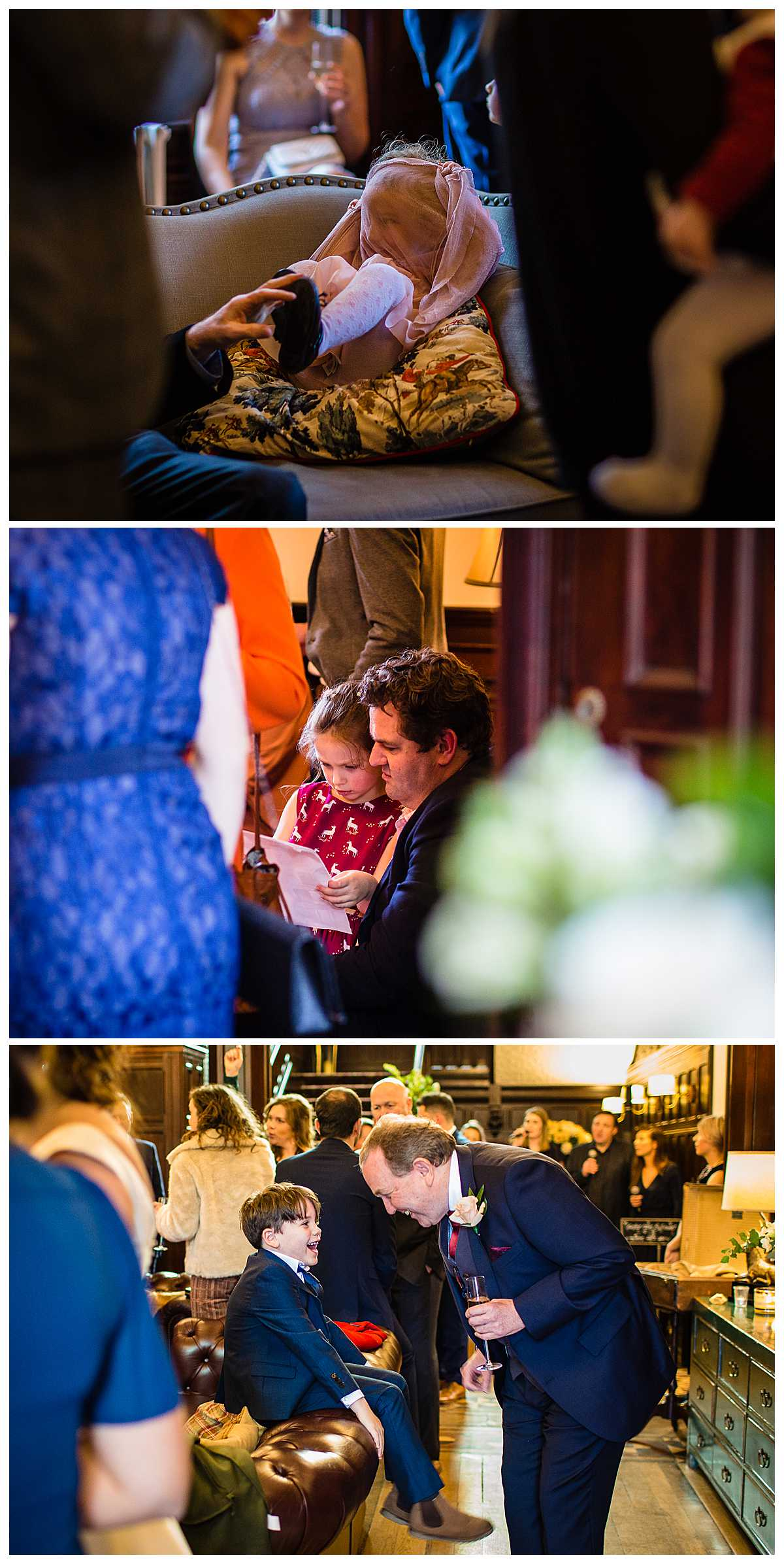various guests candids enjoying themselves at tyn dwr hall wedding llangollen