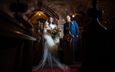 Sarah + Ryan – Peckforton Castle Christmas Wedding
